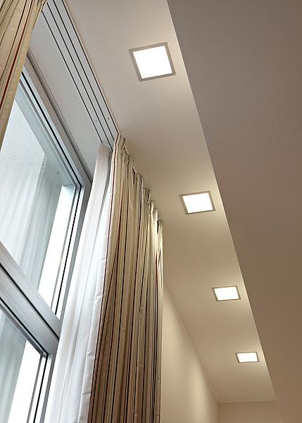Встраиваемые светильники споты квадратные в интерьере фото