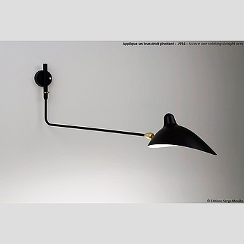ONE STRAIGHT ARM WALL LAMP Serge Mouille
