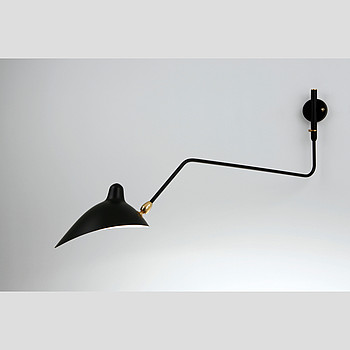 ONE CURVED ARM WALL LAMP Serge Mouille