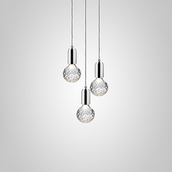 CRYSTAL BULB CHANDELIER 3 PIECE Lee Broom